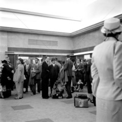 Entrance to Customs examination hall  Ocean Terminal  1950.