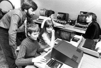 Children using computers  July 1980.