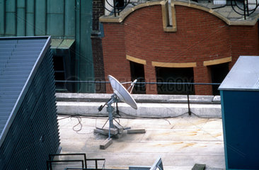 Satellite dish  London  April 1997.