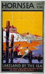 'Hornsea'  LNER poster  1923-1947.