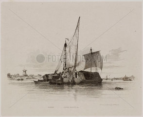 Sailing barges and canal boats  1829.