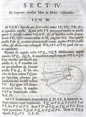 'Let PQR be a spiral that cuts all the radii...'  1687.