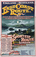 'East-Coast Route'  GNR/NER/NBR poster  1895.