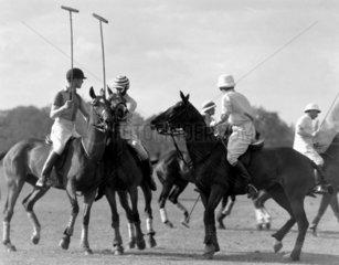 Polo match in progress  c 1930s.