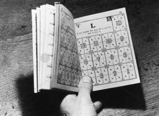 Ration book  27 June 1946. Close-up of rati