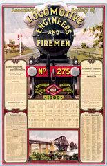ASLEF calendar  1909.