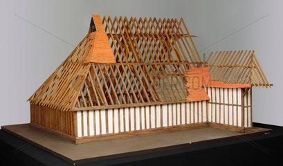 Timber-frame barn  c 1480.