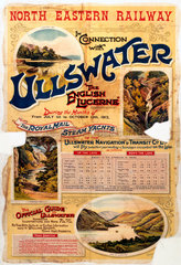 'Ullswater - The English Lucerne'  NER poster  1912.
