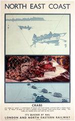 'North East Coast - Crabs'  LNER poster  1933.