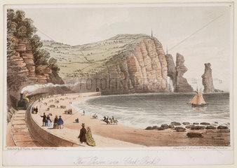 'The Parson and Clerk Rock'  Devon  1831.