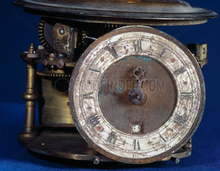 Detail of large orrery with eight-day clock by Charles Butcher  1733.