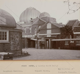 The Prime Meridian at the Royal Observatory  Greenwich  London  1914.