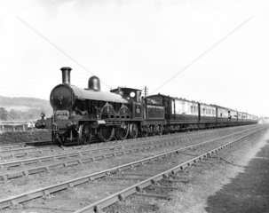 2-4-2 locomotive and train at Whitmore  1895.