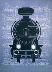 Steam locomotive  poster  c 1960s.