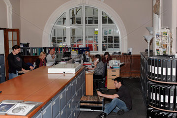 Science & Society Picture Library staff at work  July 2004.
