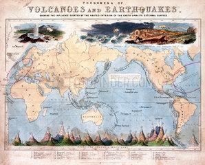 'Phenomena of Volcanoes and Earthquakes'  1852.