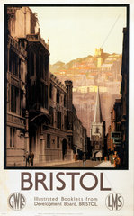'Bristol'  GWR and LMS poster  1923-1947.