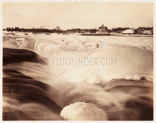 'Chaudiere Falls in Winter'  1860.