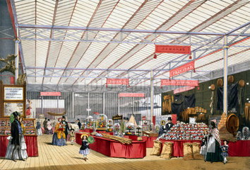 West Indian and colonies stand at the Great Exhibition  Crystal Palace  1851.