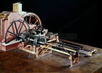 Boring mill  Wilkinson's iron works  Bersham  nr Wrexham  Wales  1775.