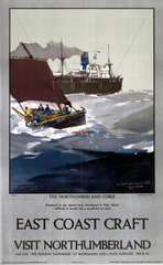 'East Coast Craft; The Northumberland Coble'  LNER poster  1923-1947.