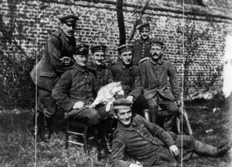 Adolf Hitler with comrades  First World War  1914-1918.