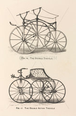 'The Double Tricycle' and the 'The Double Action Tricycle'  1869.