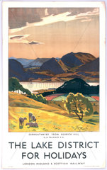 'The Lake District for Holidays'  LMS poster  1923-1939.
