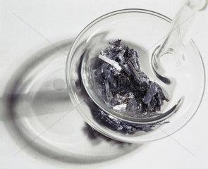 Glass-stoppered bottle containing vanadium  c 1890.