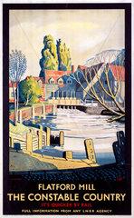 'Flatford Mill'  LNER poster  1923-1947.