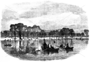The Crystal Palace from the Serpentine  Hyde Park  London  1851.