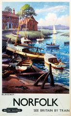 'Norfolk - Blakeney'  BR (ER) poster  1960.