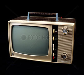 Philips 'TV-ette' portable television receiver  c 1960s.