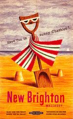 'New Brighton/Wallasey - Have Fun in Sunny Cheshire'  1956.