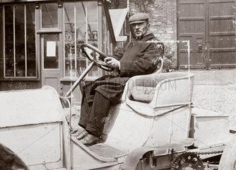 Camille Jenatzy  winner of the Gordon Bennett Trophy race  Athy  Ireland  1903.