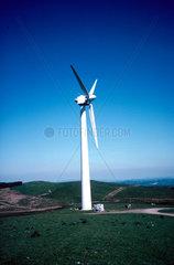 Turbine at a wind farm in Wales  25 June 1997.