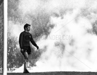 Smoke bomb on the pitch  2 October 1978.