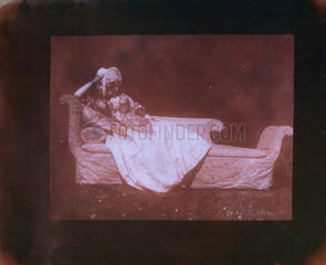 Lady Elizabeth Feilding on her chaise longue  20 April 1842.
