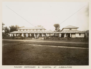 Railway hospital  Jabalpur  India  c 1930.