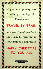 'Happy Christmas To You All'  BR poster  c 1950s.
