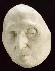 Plaster mask of St Alfonso  Italian? 1860-1920.