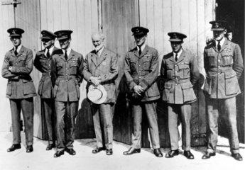 Sir Henry Royce  English engineer  with racing team  1929.