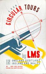 'Circular Tours'  LMS poster  1939.