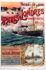 'Chemin de Fer du Nord'  reproduction poster.