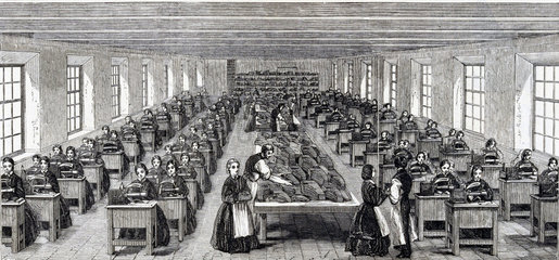 Machine room at Somervell Brothers  Netherfield  Kendal  Cumbria  1862.