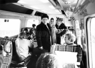 Passengers on the InterCity APT  December 1981.