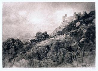 Harlech castle  Gwynedd  North Wales  1903.