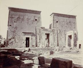 Ancient Egyptian temple buildings  c 1900.