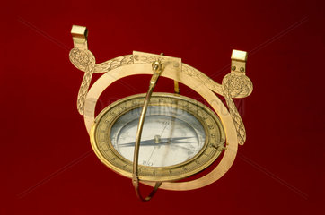 Hanging compass from a mine surveyor's kit  18th century.