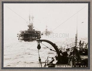 'Battleships at Sea'  c 1916.